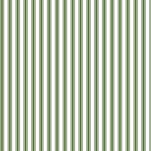 Ticking Stripe in Moss