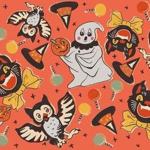 Vintage Halloween Party on Orange