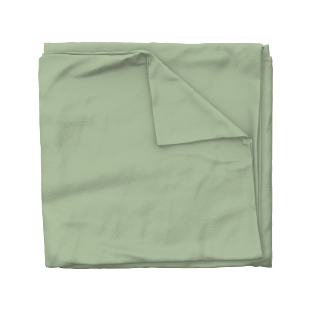 Wyandotte Duvet Cover featuring Sage Green Solid Color by delinda_graphic_studio