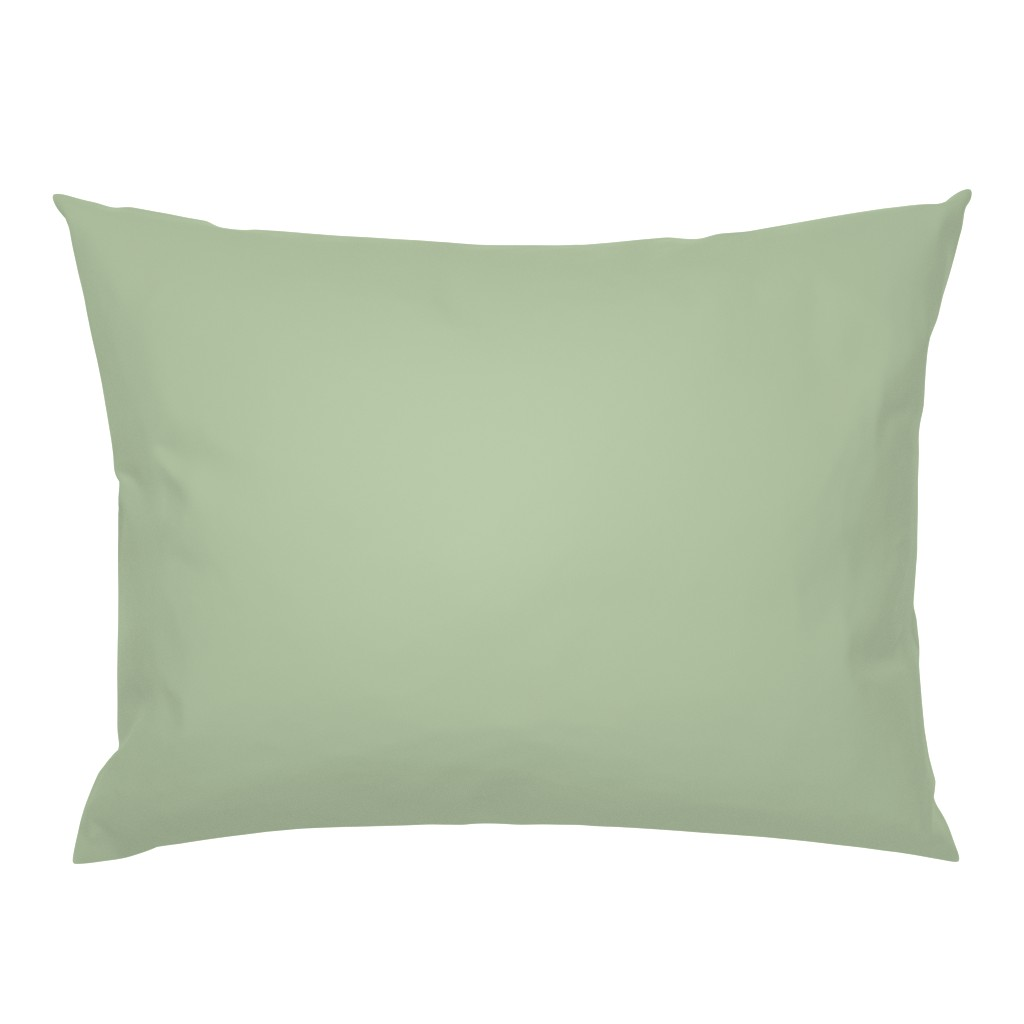 Campine Pillow Sham featuring Sage Green Solid Color by delinda_graphic_studio