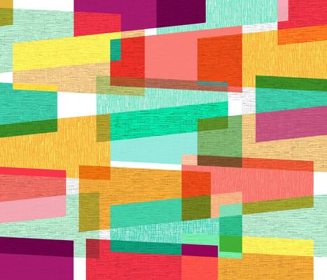 Modern Geometric Cheater Quilt