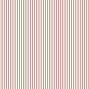 Small Stripe - Rust /White