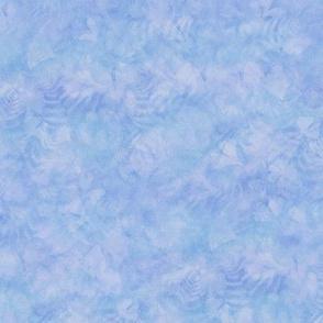 Med Blue Ginkgo Fern Sunprint Texture