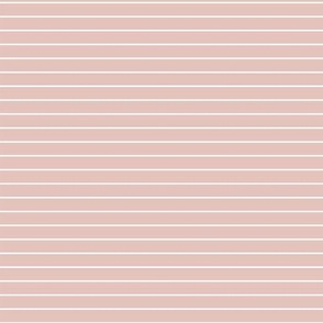 Dusty pink with 1 mm white stripes