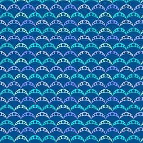 woodland teepee coordinate: blue fish scale