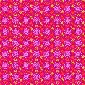 woodland teepee coordinate: red flowers