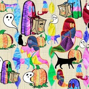 Otomi -ish Halloween Embroidery Boo