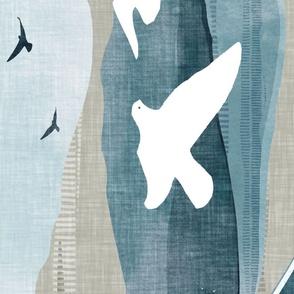 Birds cheater quilt