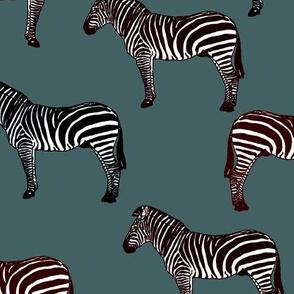 Zebra (dusky blue)
