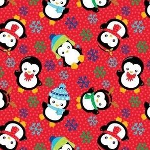 FS Playful Penguins Red