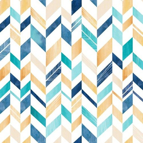 Chevron in Blue and Gold