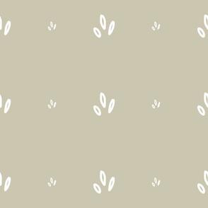 MINI Print White on Neutral Greyed Taupe