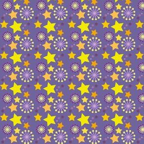 woodland teepee coordinate: purple stars