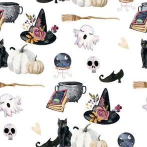 "8"" Spooky Halloween White Back"