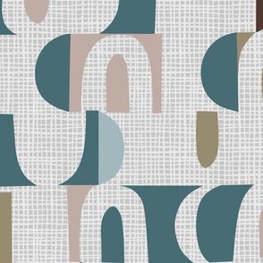 Scandi Neutral colorblock- jumbo -mid century
