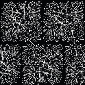 Chalk Florals in Black