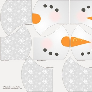 Cut and Sew Holiday Face Mask - Snowman