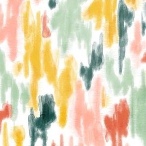 Abstract Watercolor ikat