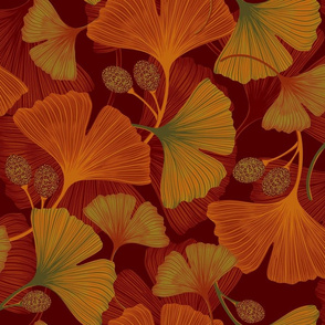 Ginkgo Leaves - Autumn (Large)