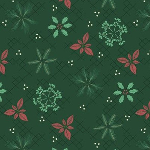 Botanical Christmas Snowflakes Small-Scale