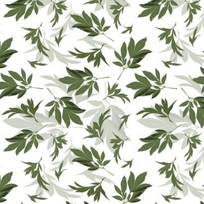 peony leaves toss - small