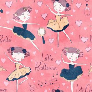 Little Ballerina on Pink