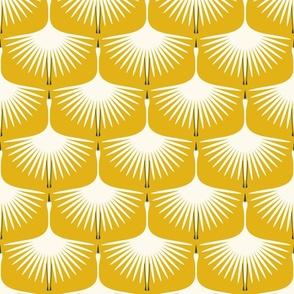 """Art Deco Swans (6"""") - Golden Yellow"""