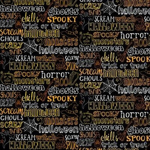 Spooky Horror Lettering - SMALLER SCALE