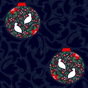 Christmas Partridge Baubles