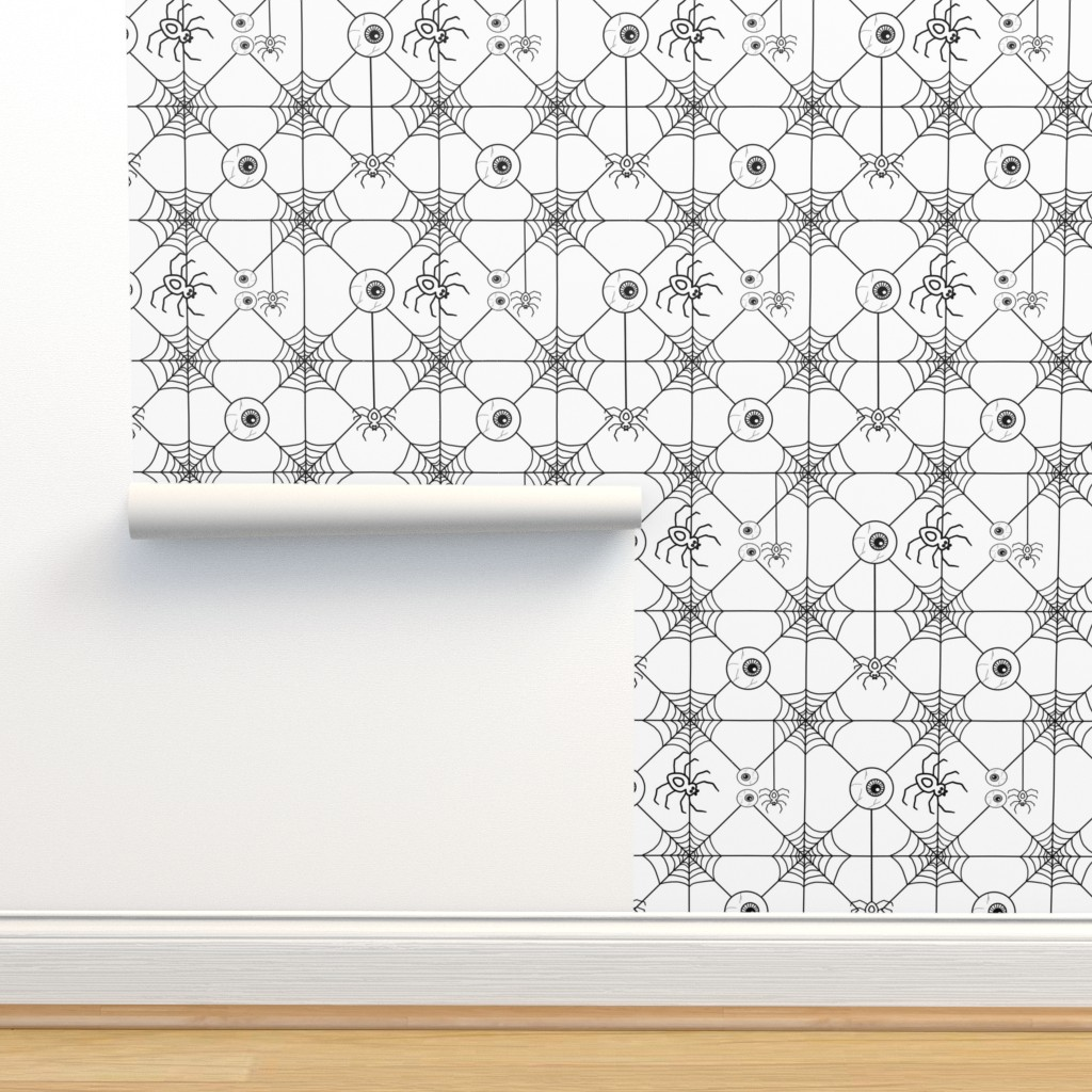 Isobar Durable Wallpaper featuring Keep an Eye on Those Spiders by esmedesign
