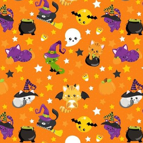 Halloween Night Orange Small Scale