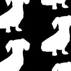 Sitting Dachschund - black
