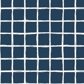 Christmas time abstract geometric checkered stripe trend pattern grid navy blue
