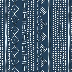 Christmas minimal mudcloth bohemian mayan abstract indian summer love aztec christmas navy blue