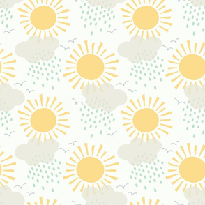 Sunshine after the rain medium scale in yellow by Pippa Shaw