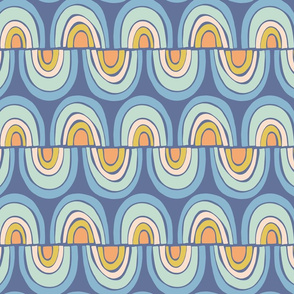 rainbow wave medium scale in blue by Pippa Shaw
