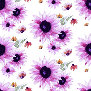 Purple Sunflower | LARGE | Renee Davis
