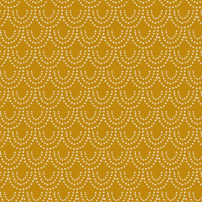 Dotted Scallop in Mustard Yellow