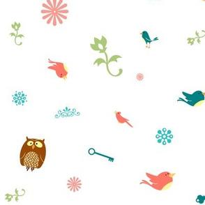 little birds and owls