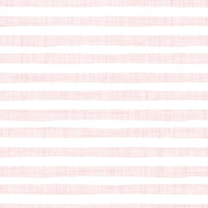 pink white linen stripes