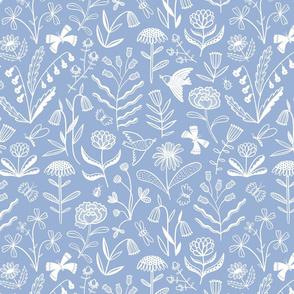 flowers | light blue