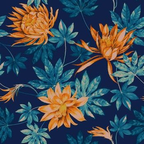 Jolly Springs Floral - Navy