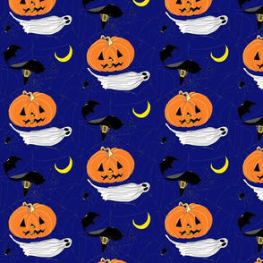 HALLOWEEN EMBROIDERING blue