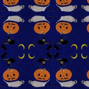 HALLOWEEN EMBROIDERING Dark night textile&yarn