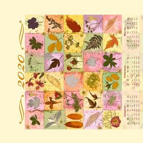2020 calendar squares