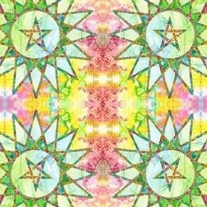 solar pentagram - psychedelic green