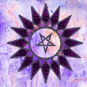 solar pentagram -purple