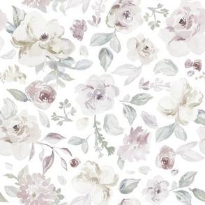 Vintage Gray Floral