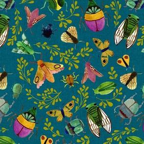 Beautiful Bugs {Teal} - medium