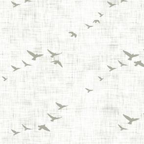 Flying birds beige